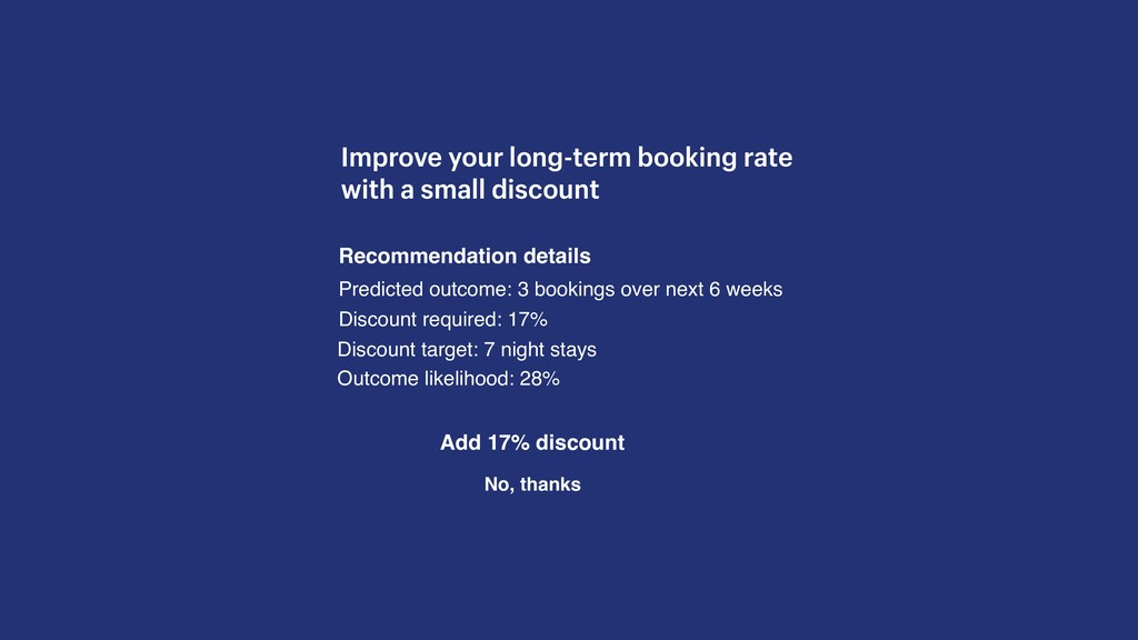 Improve your long-term booking rate with a smal...