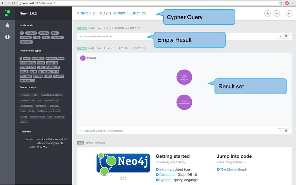 Result set Cypher Query Empty Result