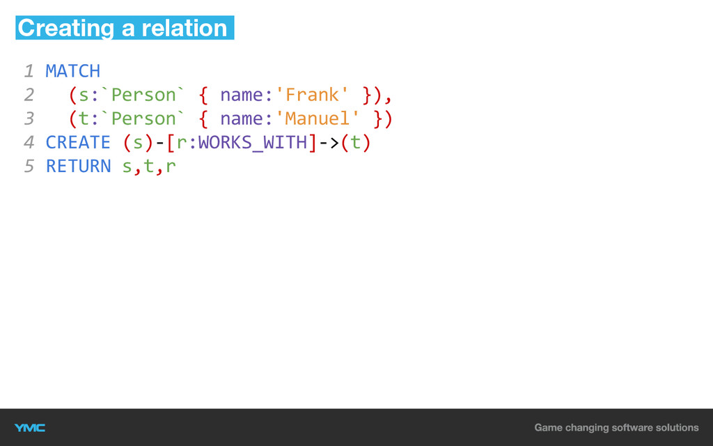 1 MATCH 2 (s:`Person` { name:'Frank' }), 3 (t:`...
