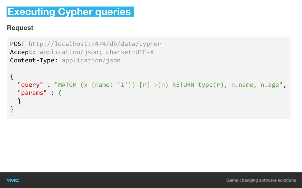Executing Cypher queries POST http://localhost:...