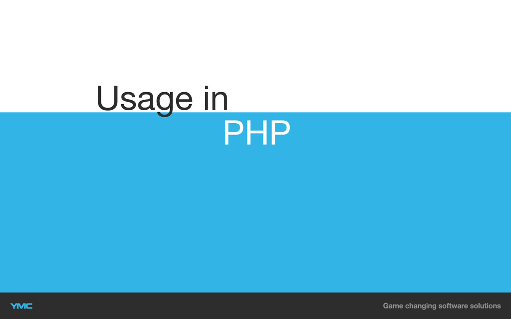 PHP Usage in