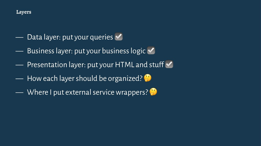 Layers — Data layer: put your queries ☑ — Busin...