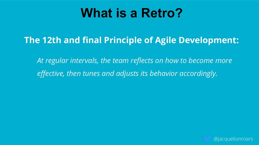What is a Retro? @jacquelionroars The 12th and ...