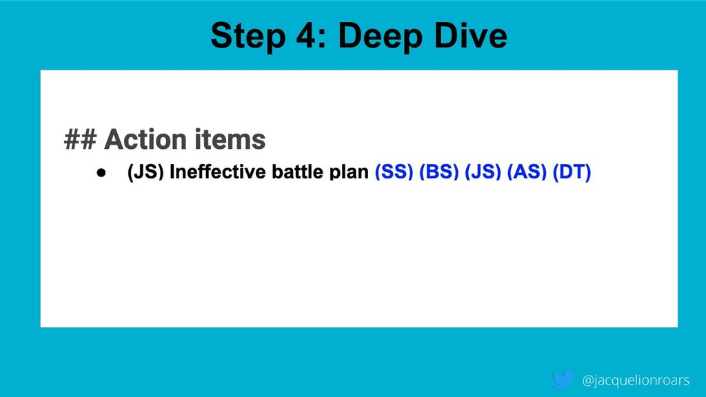 Step 4: Deep Dive @jacquelionroars WHITEOUTWHIT...