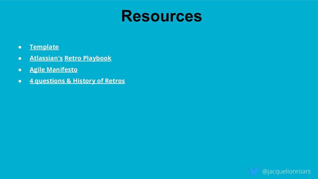 Resources @jacquelionroars ● Template ● Atlassi...