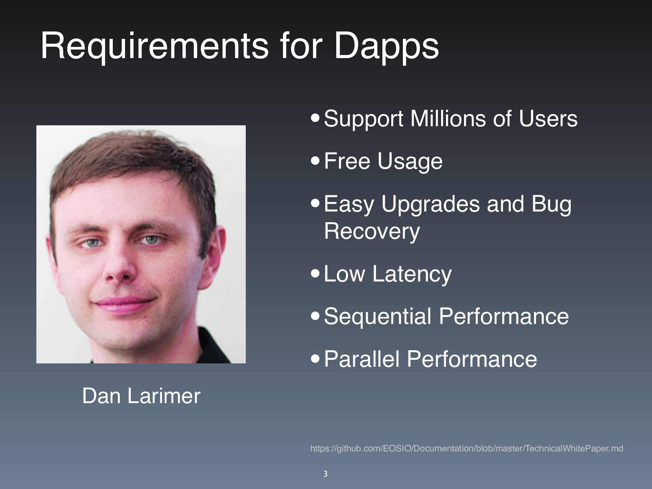 Requirements for Dapps •Support Millions of Use...