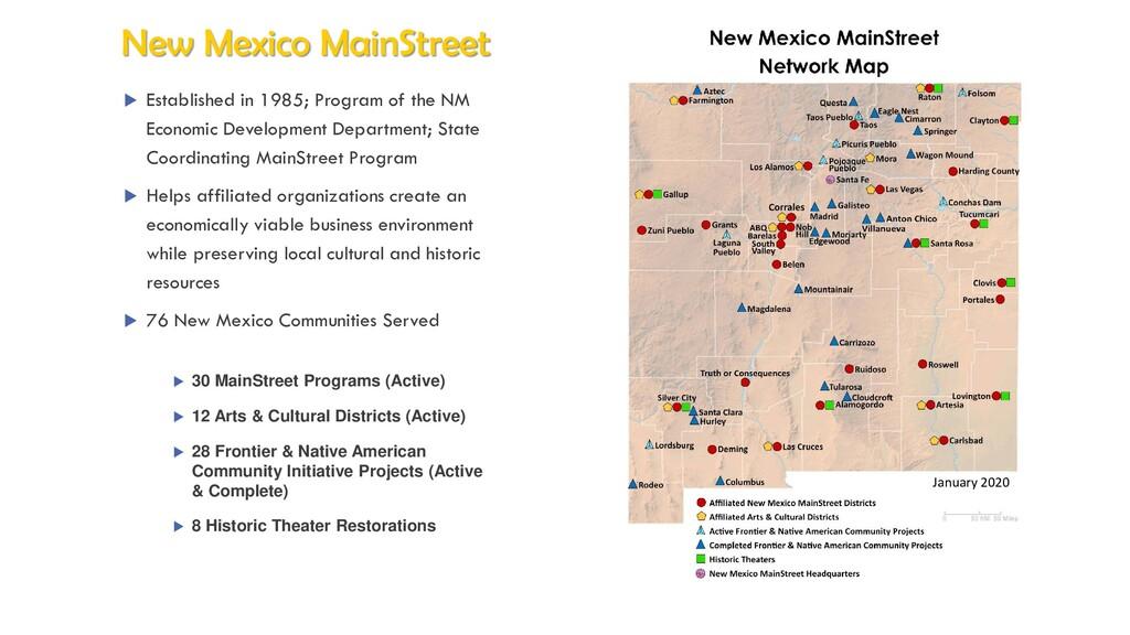  30 MainStreet Programs (Active)  12 Arts & C...