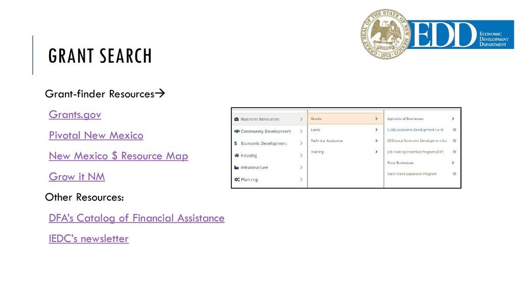 GRANT SEARCH Grant-finder Resources Grants.gov...