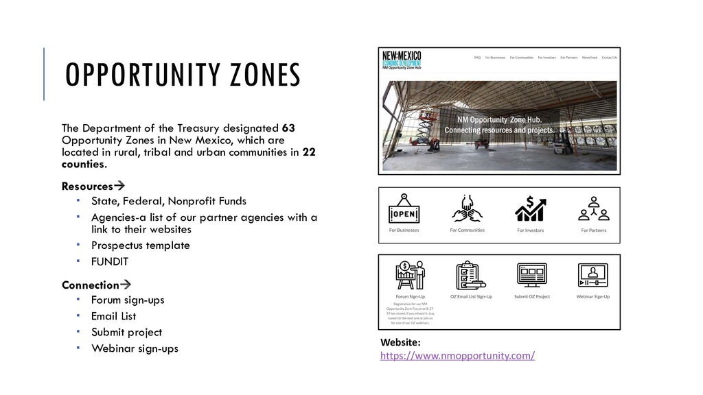 OPPORTUNITY ZONES The Department of the Treasur...