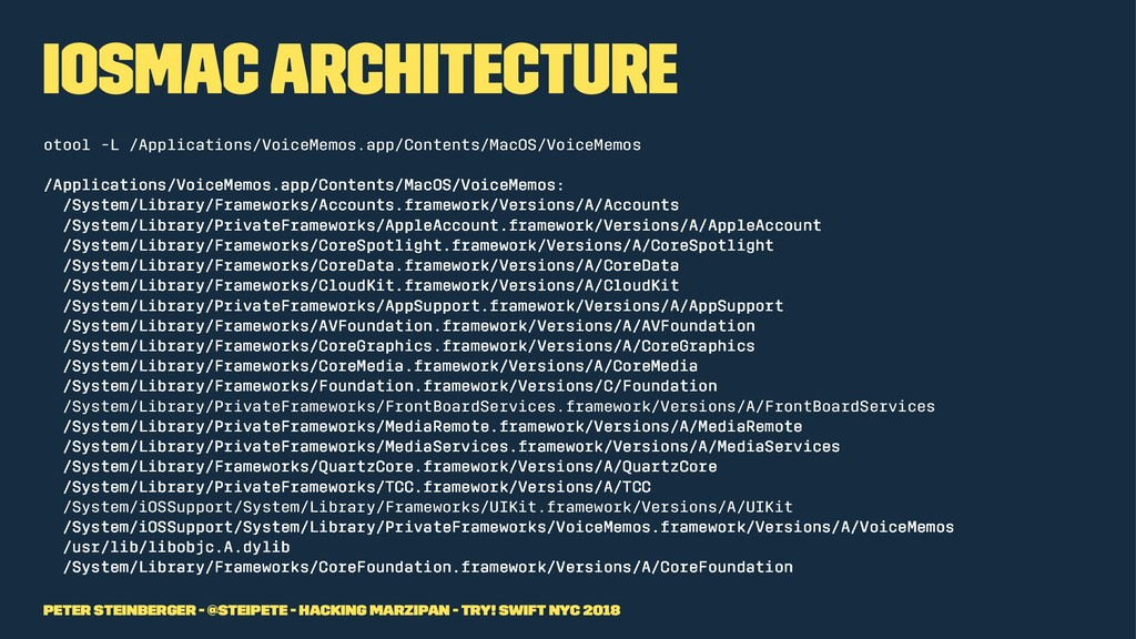 iOSMac Architecture otool -L /Applications/Voic...