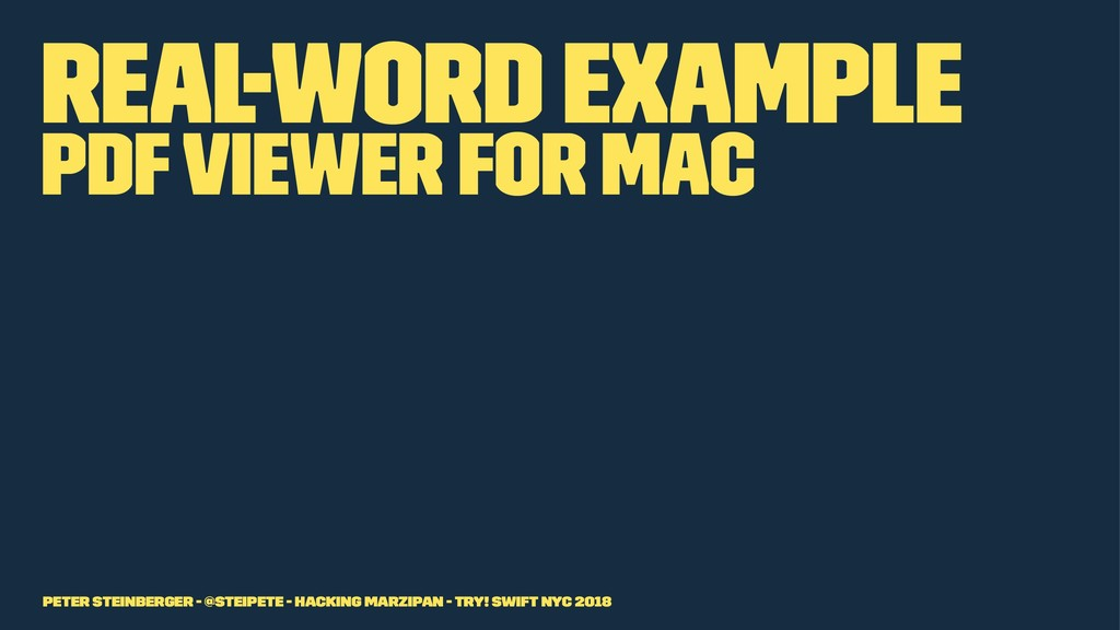 Real-Word Example PDF Viewer for Mac Peter Stei...