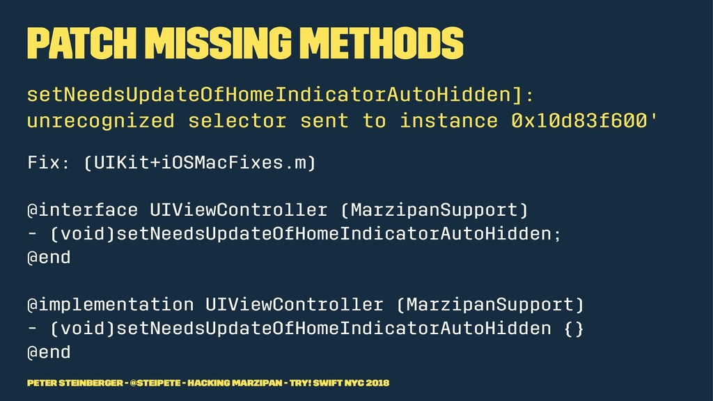 Patch missing methods setNeedsUpdateOfHomeIndic...