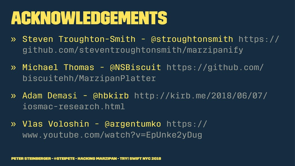 Acknowledgements » Steven Troughton-Smith - @st...