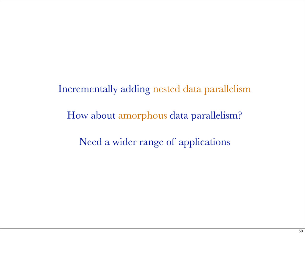 Incrementally adding nested data parallelism Ho...