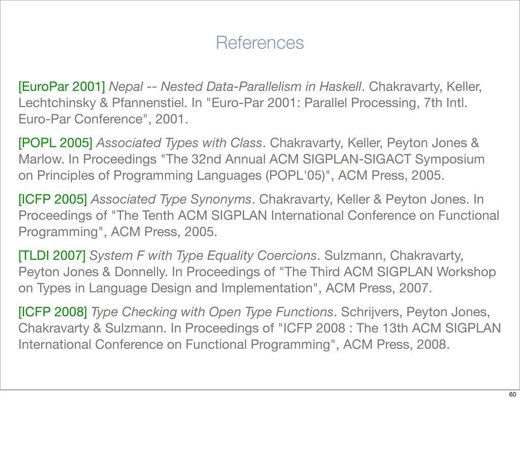 References [EuroPar 2001] Nepal -- Nested Data-...