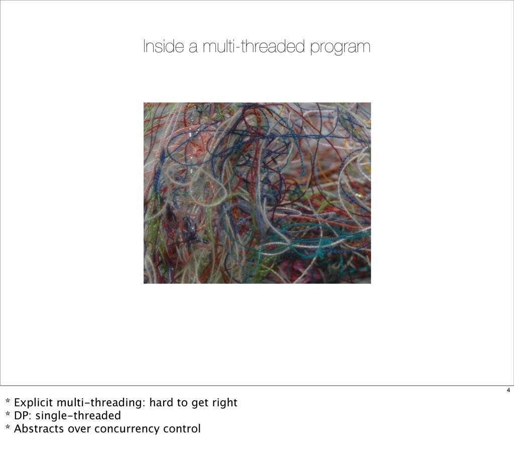 Inside a multi-threaded program 4 * Explicit mu...