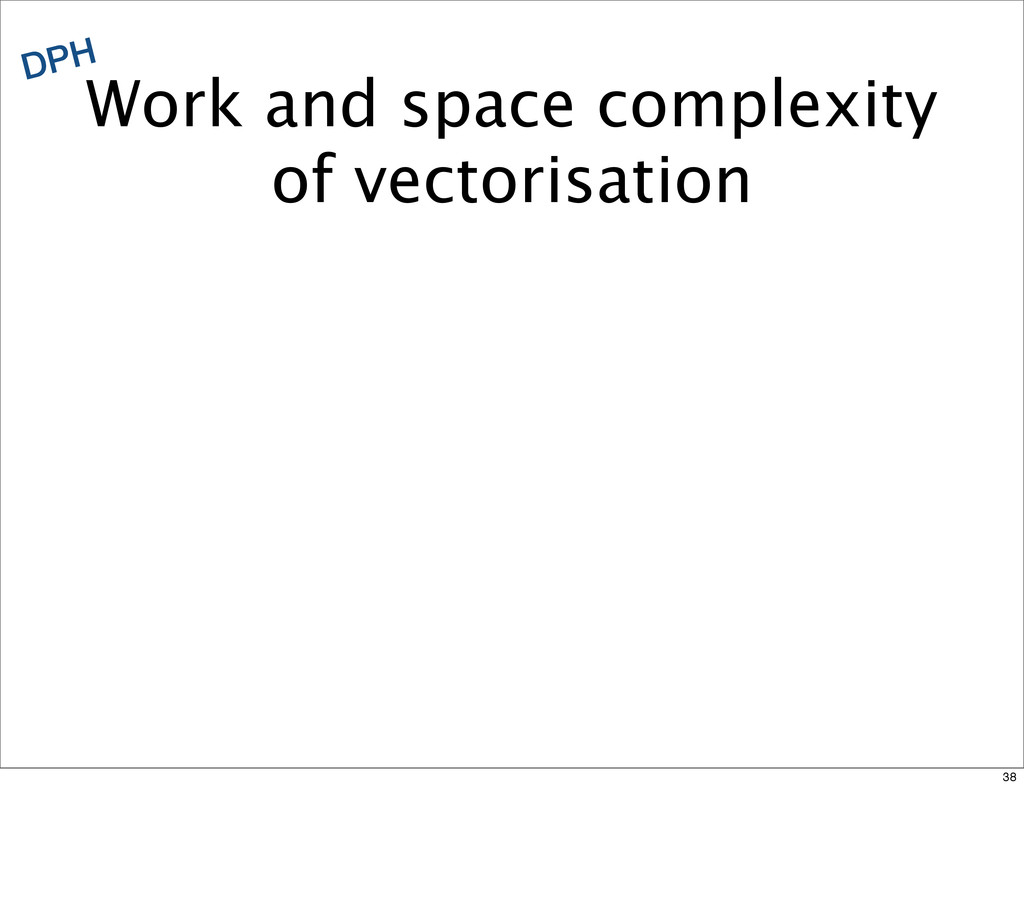 Work and space complexity of vectorisation DPH ...