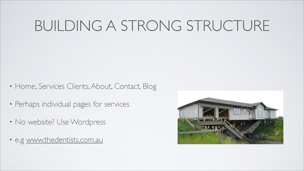 BUILDING A STRONG STRUCTURE • Home, Services Cl...
