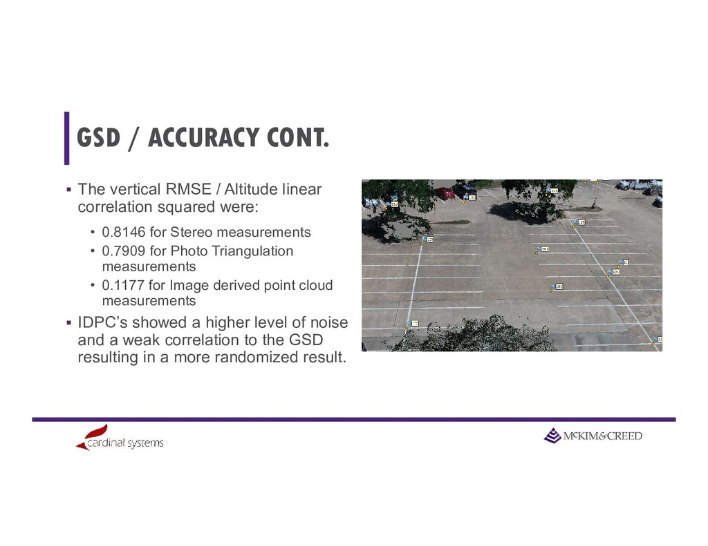 GSD / ACCURACY CONT.  The vertical RMSE / Alti...