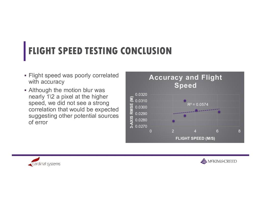 FLIGHT SPEED TESTING CONCLUSION  Flight speed ...