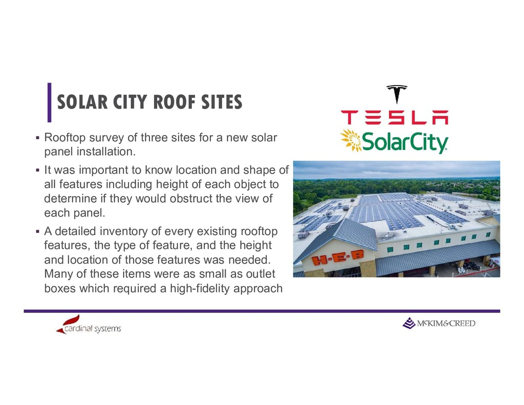 SOLAR CITY ROOF SITES  Rooftop survey of three...