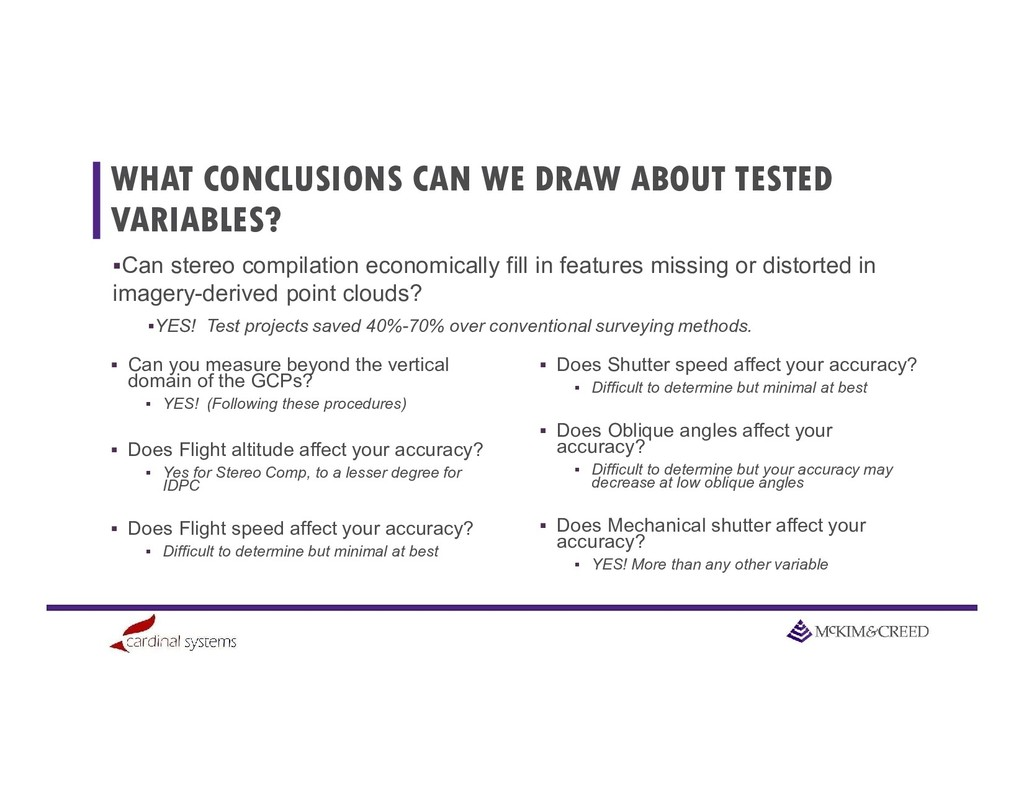 WHAT CONCLUSIONS CAN WE DRAW ABOUT TESTED VARIA...