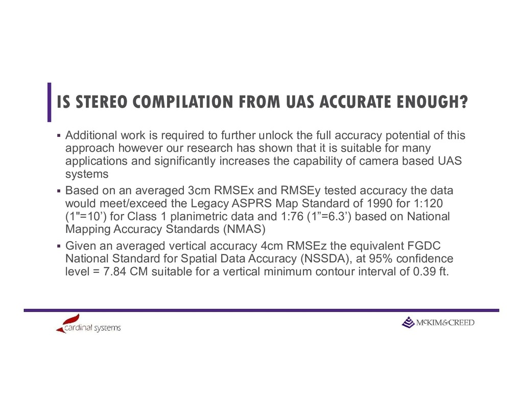 IS STEREO COMPILATION FROM UAS ACCURATE ENOUGH?...