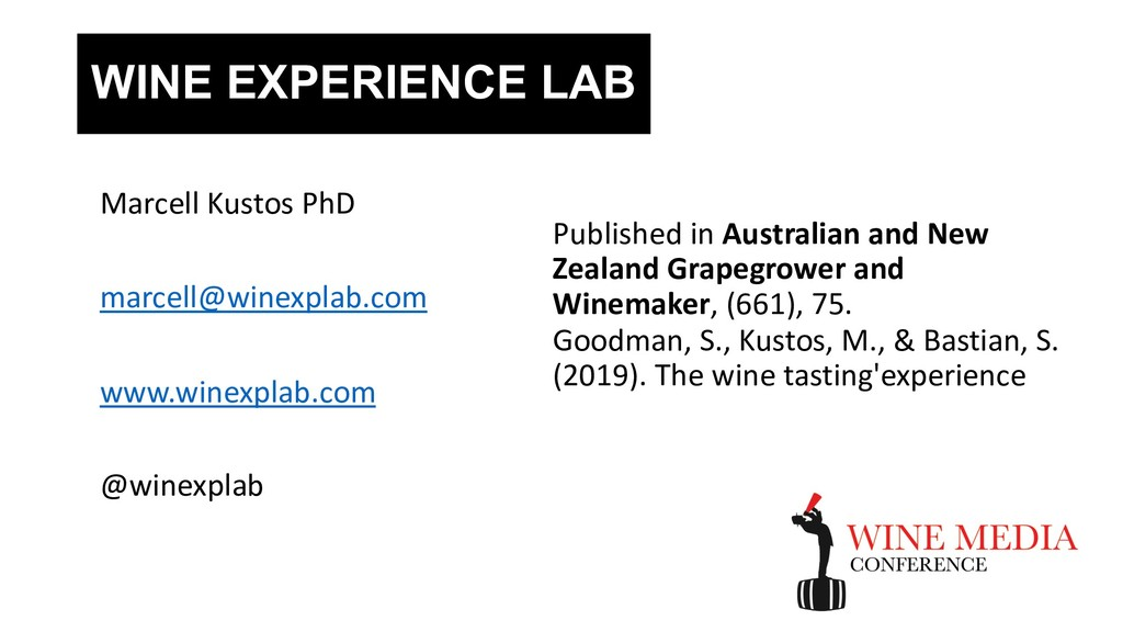 WINE EXPERIENCE LAB Published in Australian and...