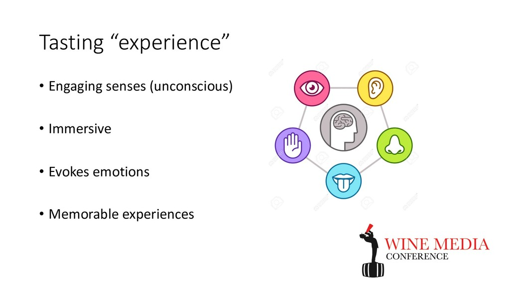 "Tasting ""experience"" • Engaging senses (unconsc..."
