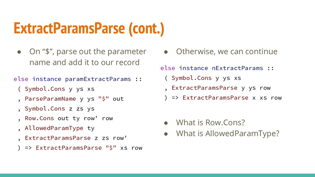 "● On ""$"", parse out the parameter name and add ..."