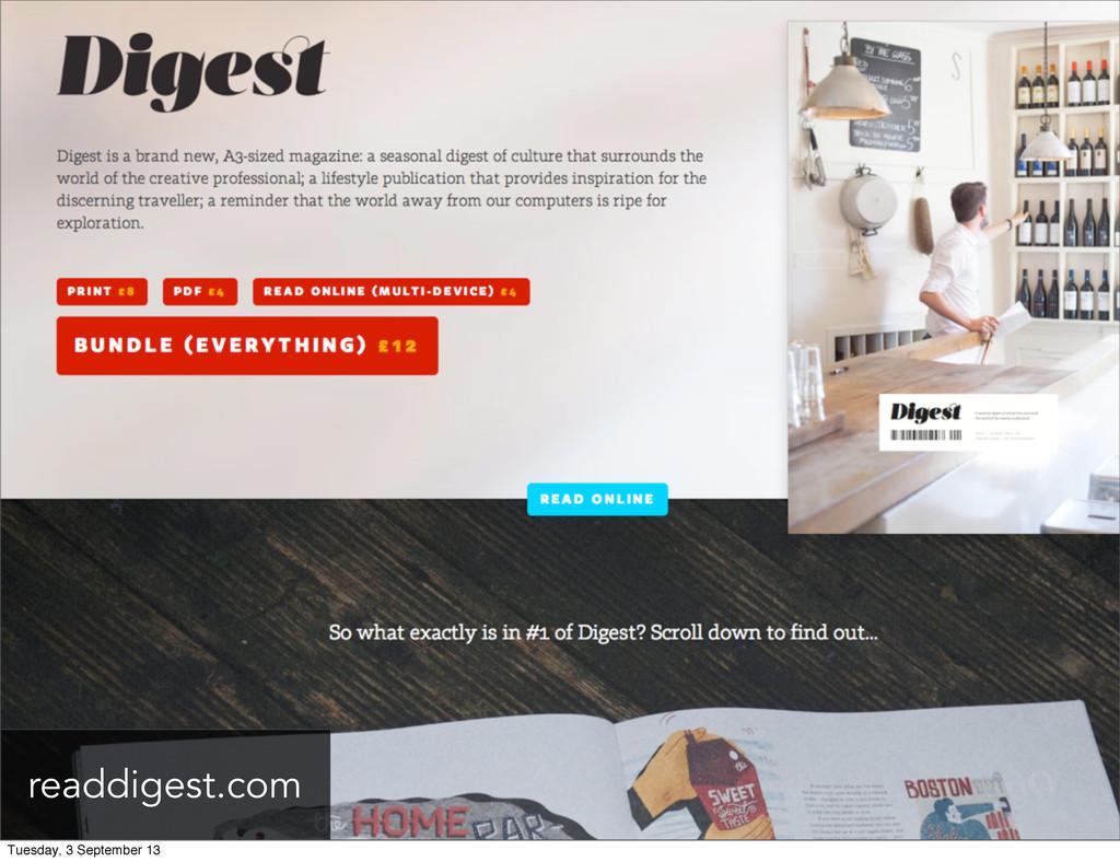 readdigest.com Tuesday, 3 September 13