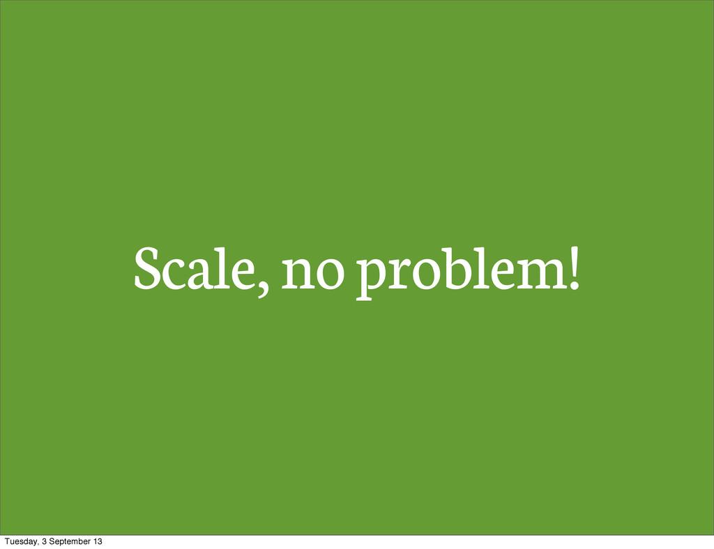 Scale, no problem! Tuesday, 3 September 13
