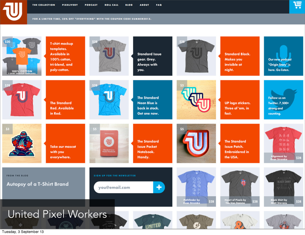 United Pixel Workers Tuesday, 3 September 13