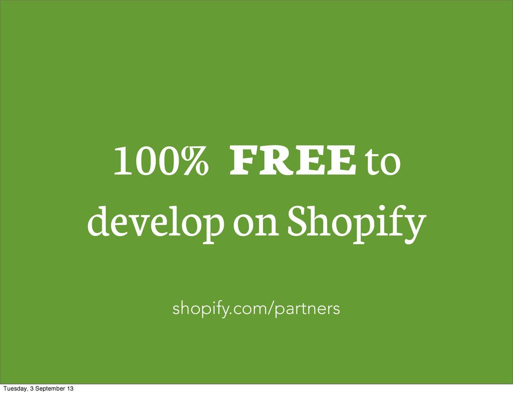 100% FREE to develop on Shopify shopify.com/par...