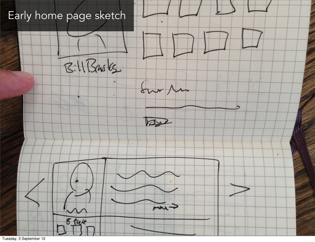 Early home page sketch Tuesday, 3 September 13