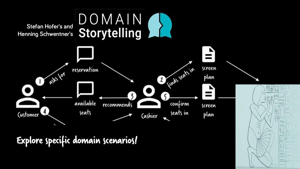 Explore specific domain scenarios! Stefan Hofer...