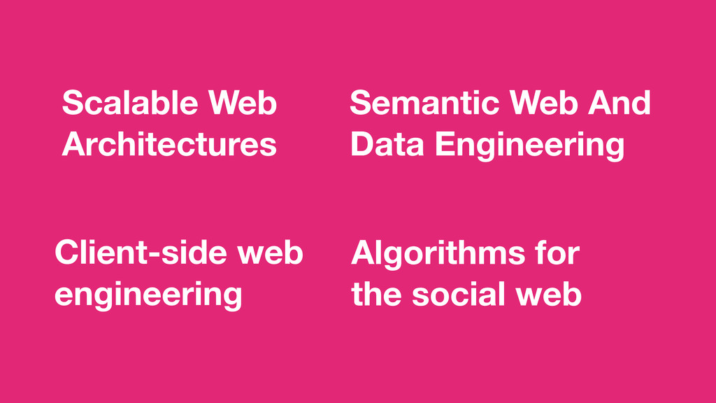 Scalable Web Architectures Algorithms for the ...