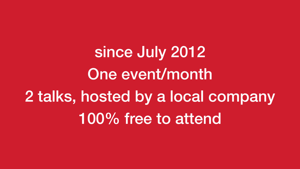 2 talks, hosted by a local company 100% free to...