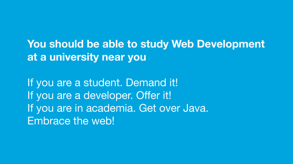 You should be able to study Web Development at ...