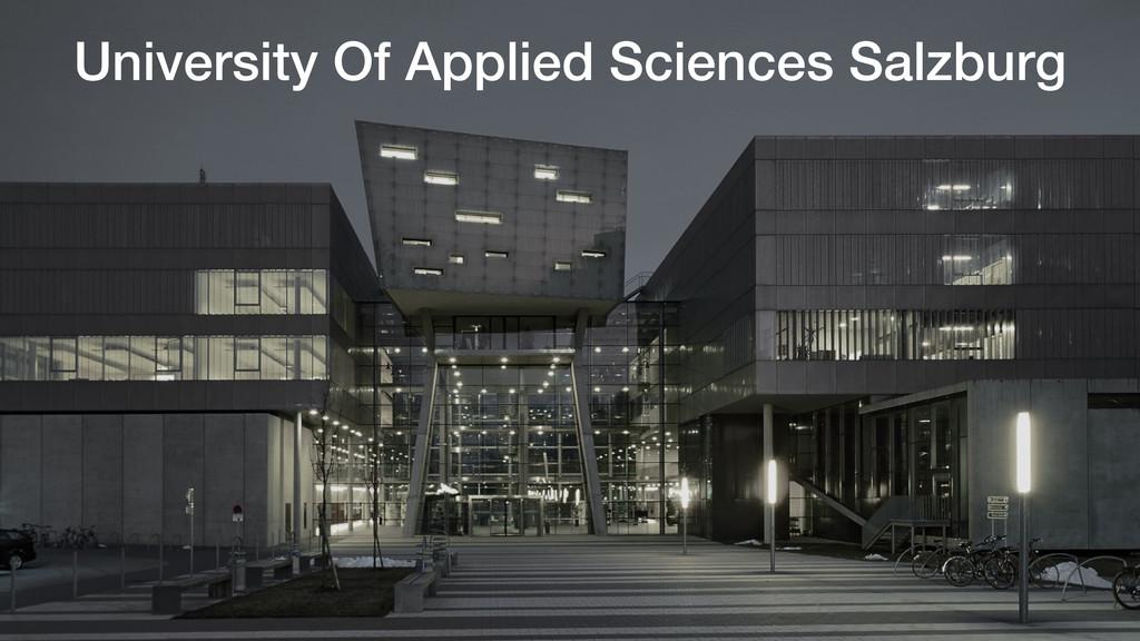 University Of Applied Sciences Salzburg