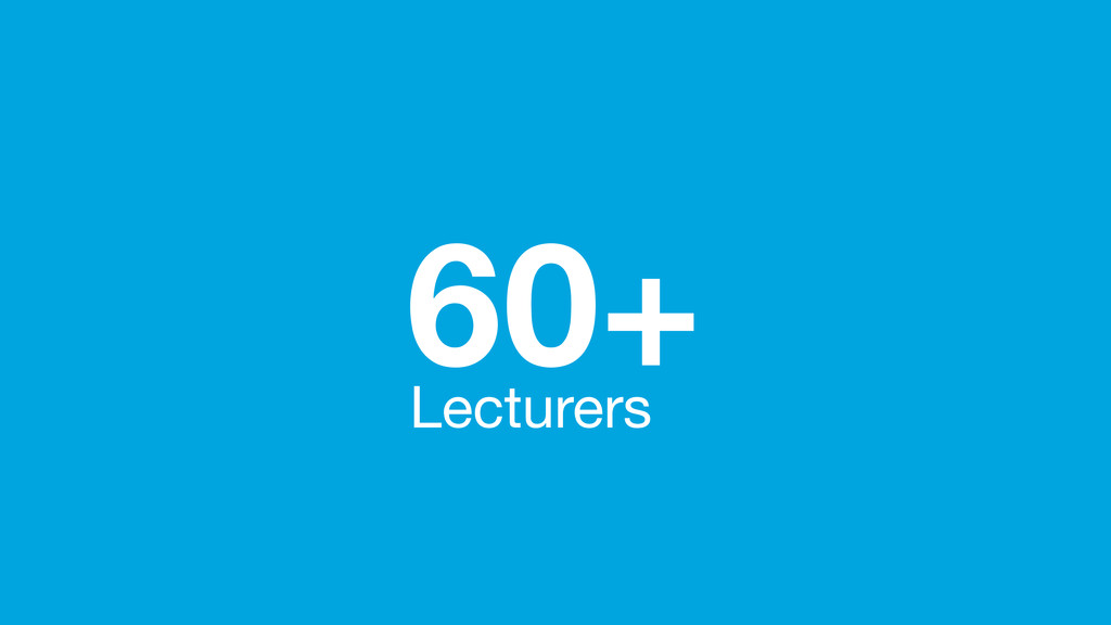 60+ Lecturers