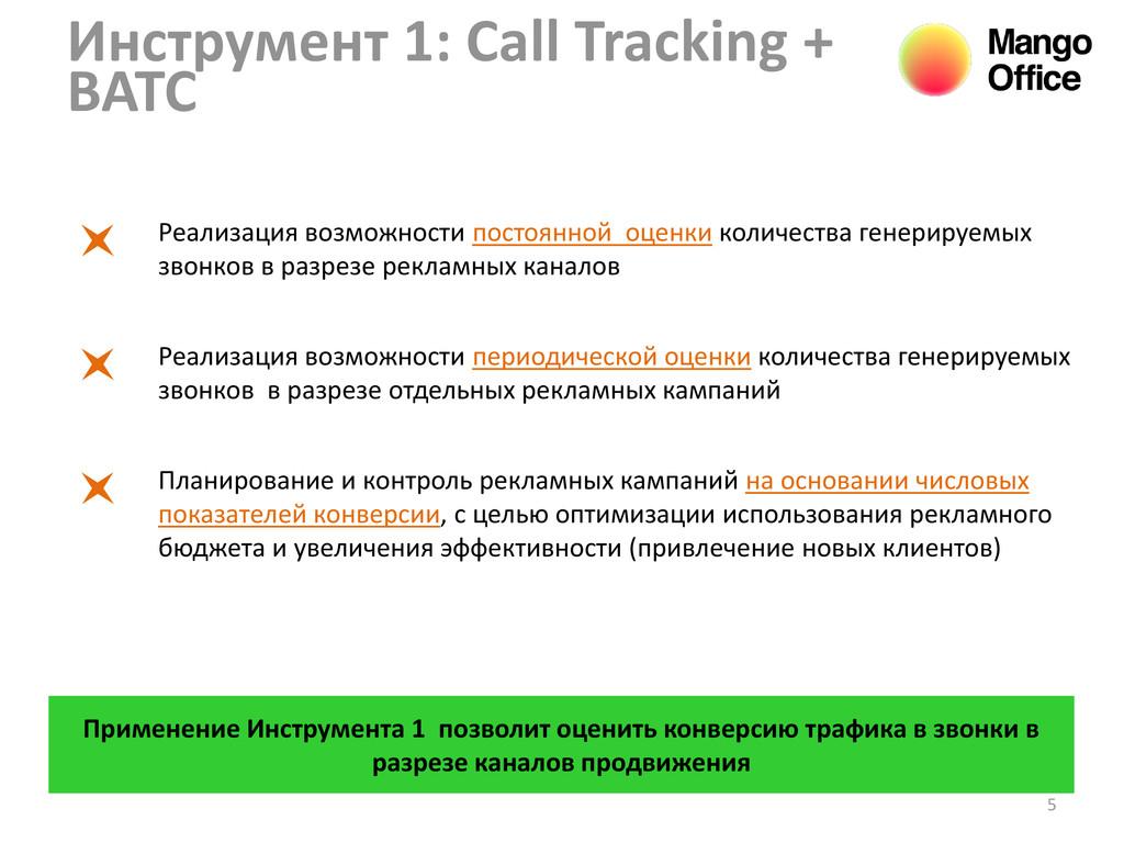 5 Инструмент 1: Call Tracking + ВАТС Реализация...