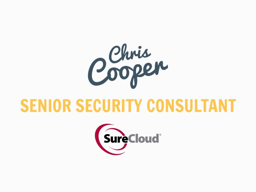 SENIOR SECURITY CONSULTANT Chris Cooper