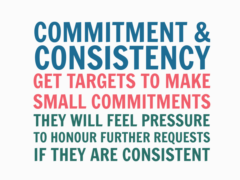 GET TARGETS TO MAKE COMMITMENT & THEY WILL FEEL...