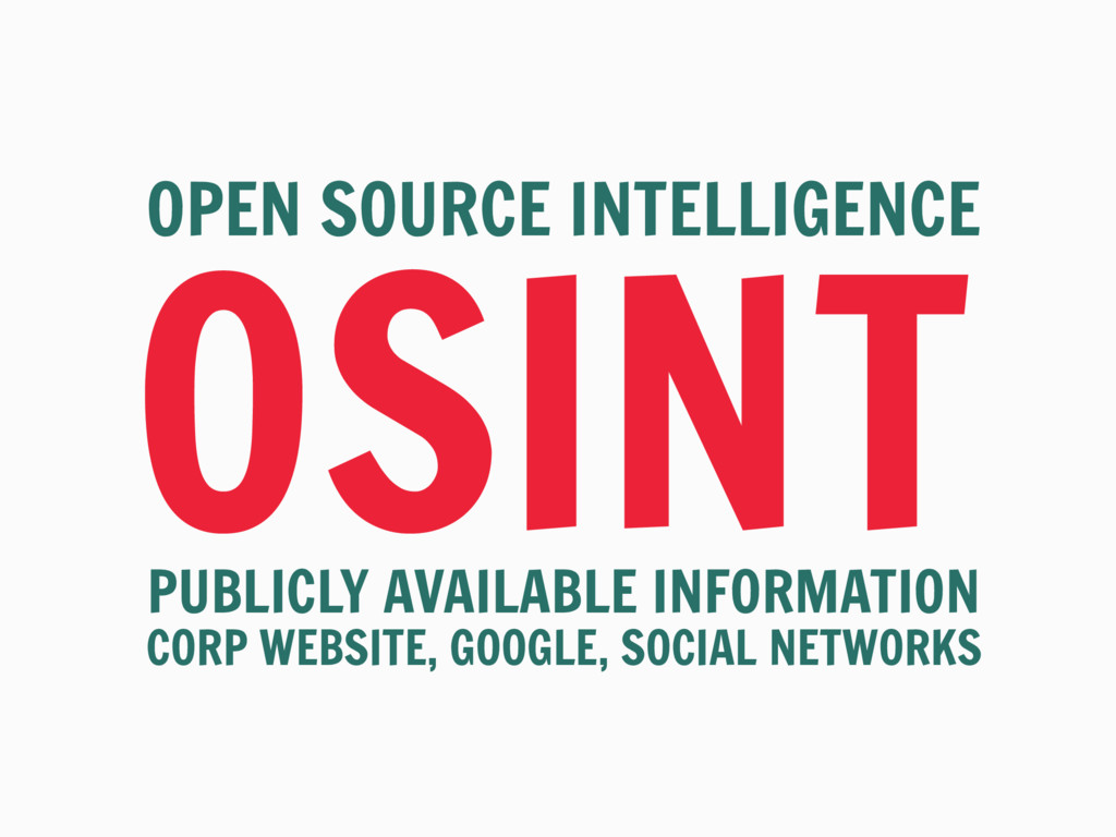 OSINT OPEN SOURCE INTELLIGENCE PUBLICLY AVAILAB...