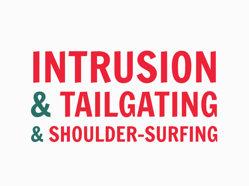 INTRUSION & TAILGATING & SHOULDER-SURFING