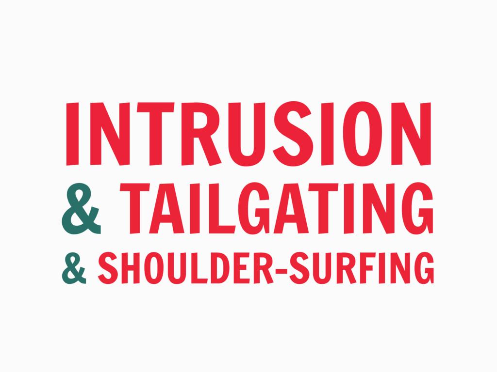 INTRUSION & TAILGATING & SHOULDER-SURFING