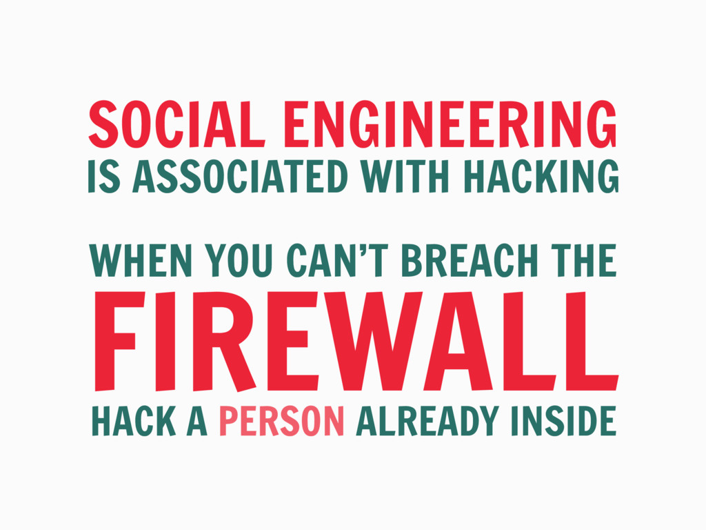 SOCIAL ENGINEERING IS ASSOCIATED WITH HACKING W...