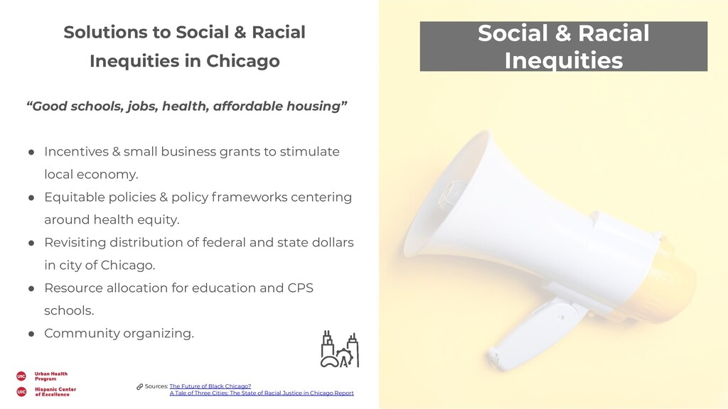 Social & Racial Inequities Solutions to Social ...