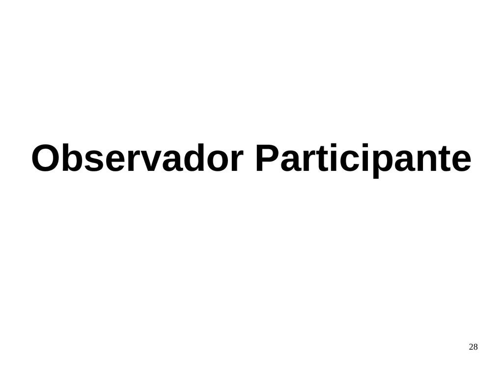 28 Observador Participante